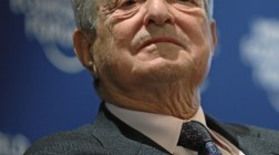 DAVOS/SWITZERLAND, 27JAN10 - George Soros, Chairman, Soros Fund Management, USA, captured during the session 'Rebuilding Economics' of the Annual Meeting 2010 of the World Economic Forum in Davos, Switzerland, January 27, 2010 at the Congress Centre.  © Copyright by World Economic Forum swiss-image.ch/Photo by Sebastian Derungs