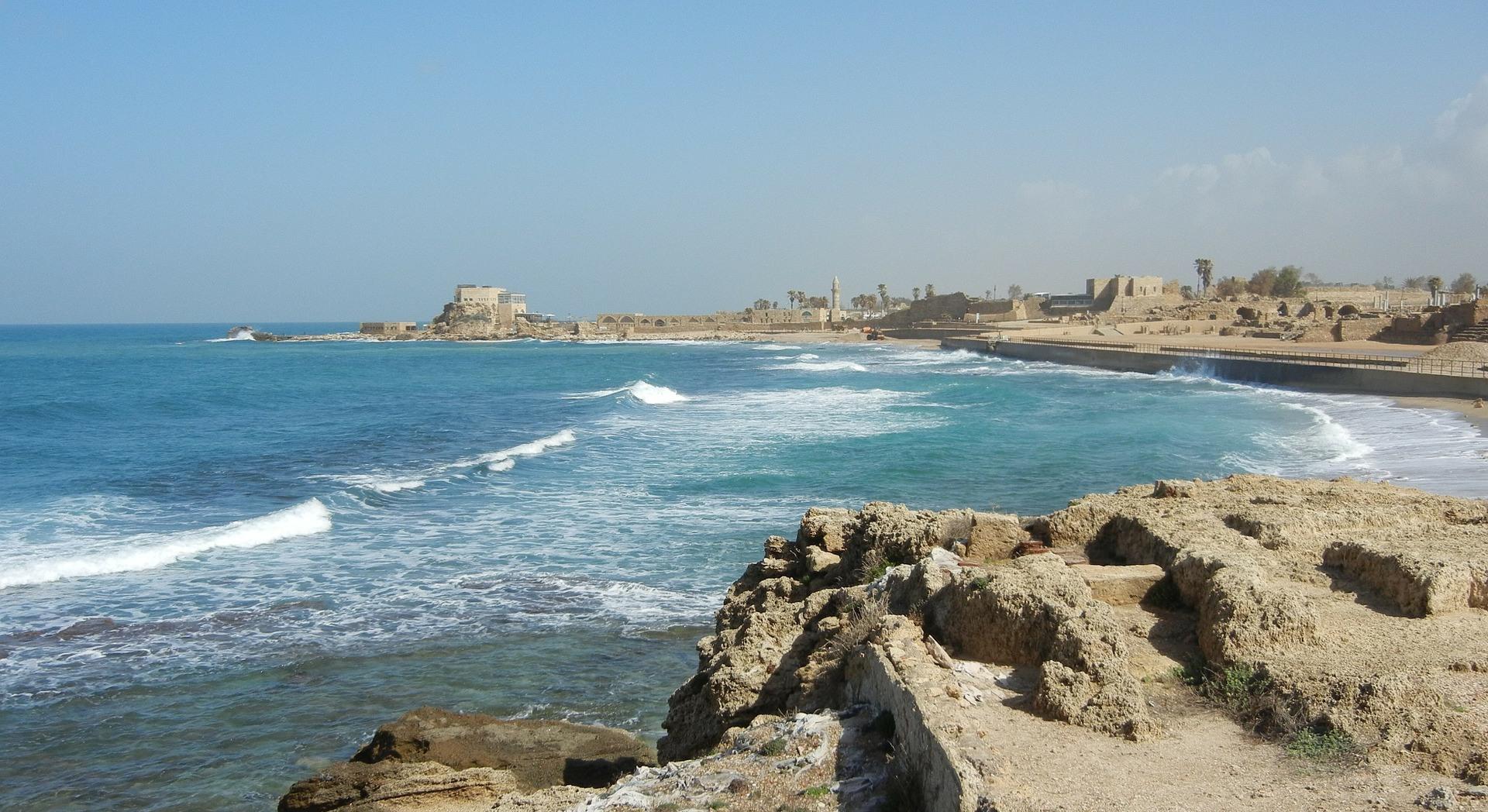 Cäsarea an der israelischen Mittelmeerküste. Quelle: Pixabay
