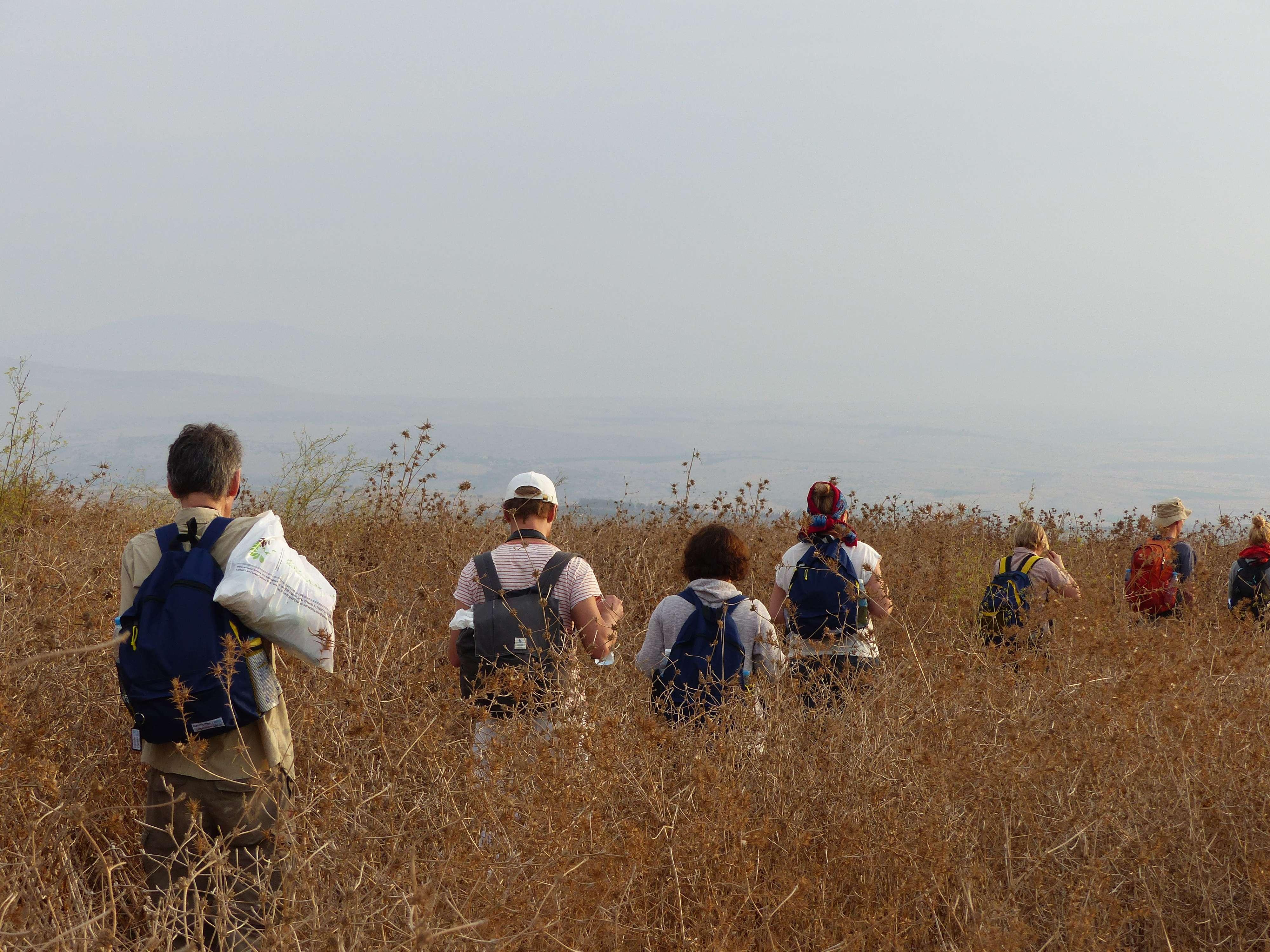 Wanderung auf dem Jerusalem-Weg.