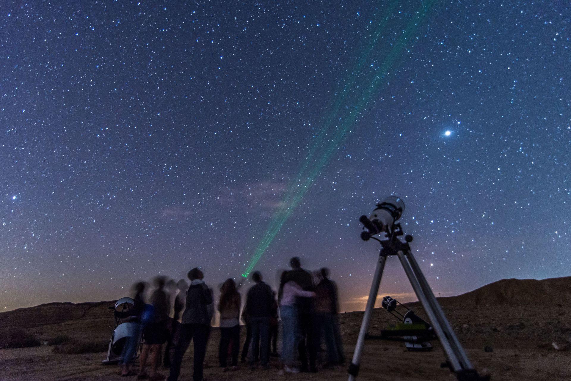 Sternefestival in der Wüste Negev, Israel, im August 2018.